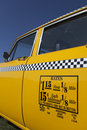 Old New York Cab Rates Royalty Free Stock Photo