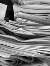 Old newspapers dozens of stacked Royalty Free Stock Photos