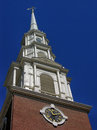 Old north church steeple the of the historic one if by land two if by sea or was it the other way around Royalty Free Stock Photos