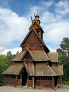 Old Norwegian Stave Church Royalty Free Stock Photo