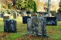 Old Norwegian tombstones Royalty Free Stock Photo