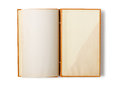 Old notebook open on white background Royalty Free Stock Image