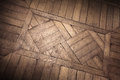 Old oak parquet fragment Stock Photos