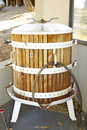 Old Oak Wine Grape Press Royalty Free Stock Photo