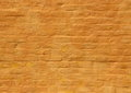 Old Ochre Yellow Painted Brick Wall Background