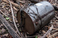 Old oil barrel left outdoors Royalty Free Stock Photos