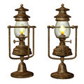 Old oil lamps Royalty Free Stock Photos