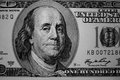 The old one hundred dollars in black and white Royalty Free Stock Photography