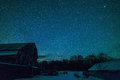Old Ontario Barn and the night stars