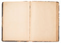 Old open book on white background Royalty Free Stock Photos