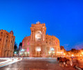 Old opera theatre building in odessa ukraine night view of public and ballet theater Stock Image
