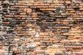 Old orange brick wall cracked texture surface Stock Photos