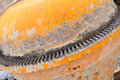 Old orange portable concrete mixer Royalty Free Stock Photography