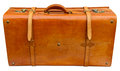 Old orange suitcase Royalty Free Stock Photo