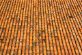 Old orange weathered roof shingles and ceramic tiles pattern Royalty Free Stock Photo