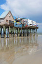 Old orchard beach maine in usa is a popular summer destination with its miles of sand and tourist oriented businesses it provides Stock Images