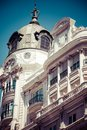 Old ornamental building at gran via in madrid spain Royalty Free Stock Image