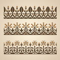 Old ornaments set of border ornament vector illustration Royalty Free Stock Photo