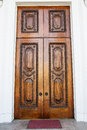 Old ornate brown door an in a home in charleston south carolina Stock Images