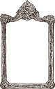 Old ornate frame vector drawing of the in baroque style Stock Photos