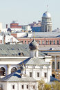 Old orthodox church and other buildings in center of moscow russia Royalty Free Stock Photo