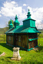 An old orthodox church in szczawne beskid niski mountains poland south eastern Stock Photography
