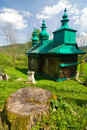An old orthodox church in szczawne beskid niski mountains poland south eastern Stock Images