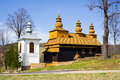 An old orthodox church in wislok wielki beskid niski mountains south eastern poland Royalty Free Stock Photos