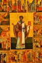 The old orthodox icon in the church Royalty Free Stock Photo