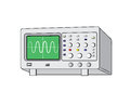 Old oscilloscope electronic vector image Royalty Free Stock Images
