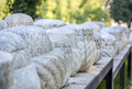 Old ottomans graveyards and tombstones Royalty Free Stock Photography