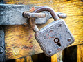 Old padlock beautiful close up Stock Photo