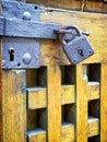 Old padlock beautiful close up Royalty Free Stock Images