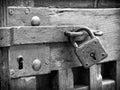 Old padlock beautiful close up Stock Photo