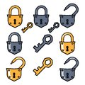 stock image of  Old padlock and keys. Options padlock.