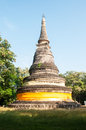 Old pagoda at wat umong chiangmai thailand Stock Photo