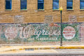 Old painted advertising at the wall lake charles usa august on august in lake charles usa ads on brick walls were common Stock Photos