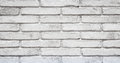 Old Painted White brick wall Background Royalty Free Stock Photo
