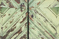 Old painted wooden door background texture Royalty Free Stock Photo
