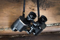 Old pair of binoculars Royalty Free Stock Photos