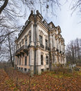 Old palace in autumn park Royalty Free Stock Images