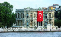 Old palace on bosphorus bank Stock Photos