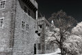 Old palace of the fifteenth century north of potugal used infrared filter Royalty Free Stock Photos