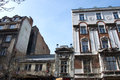 Old palaces in the style of romanticism facades historic belgrade downtown Stock Photo