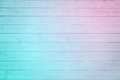 Old pale pink blue ombre plank wood Royalty Free Stock Photo