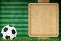 Old paper background football Stock Photography