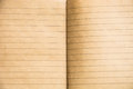 Old paper background open notebook vintage lined rustic texture Royalty Free Stock Images