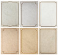 Old paper background texture with vintage frame border Royalty Free Stock Photo