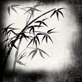 Old paper with bamboo branches Royalty Free Stock Photos