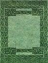Old paper with celtic frame